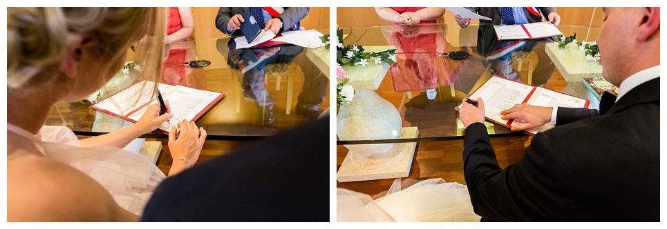 signatures des mariés