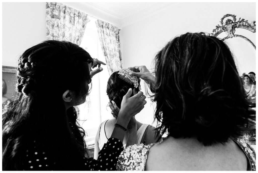 bride guetting ready