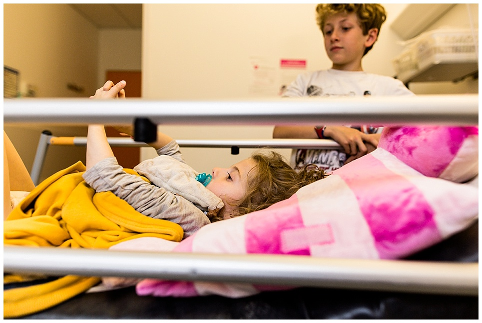 hospitalisation gastrostomie, photographier le syndrome de rett