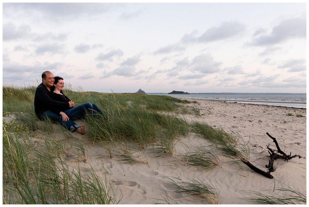 séance couple dans la baie du mont saint michel