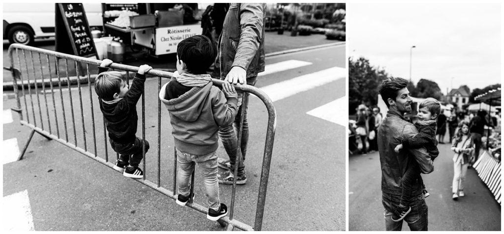 aller au marche avec ses enfants