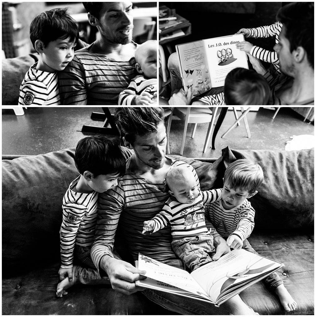 lire une histoire avec papa