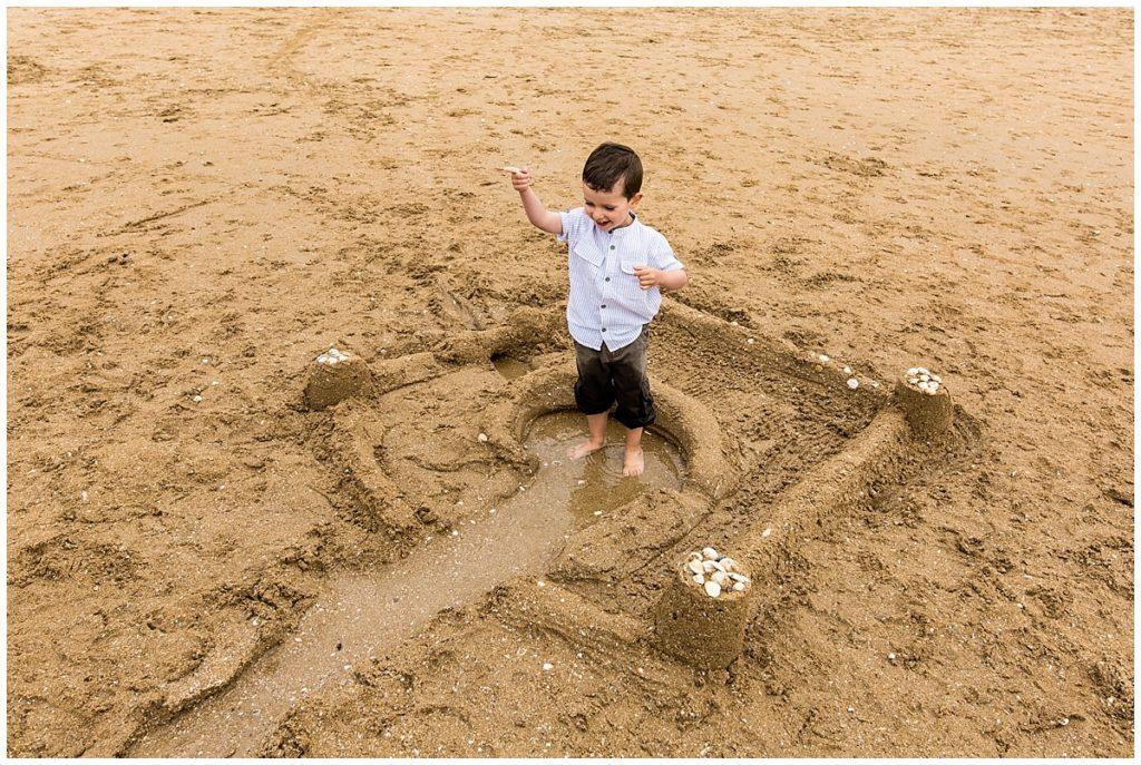 faire un chateau de sable