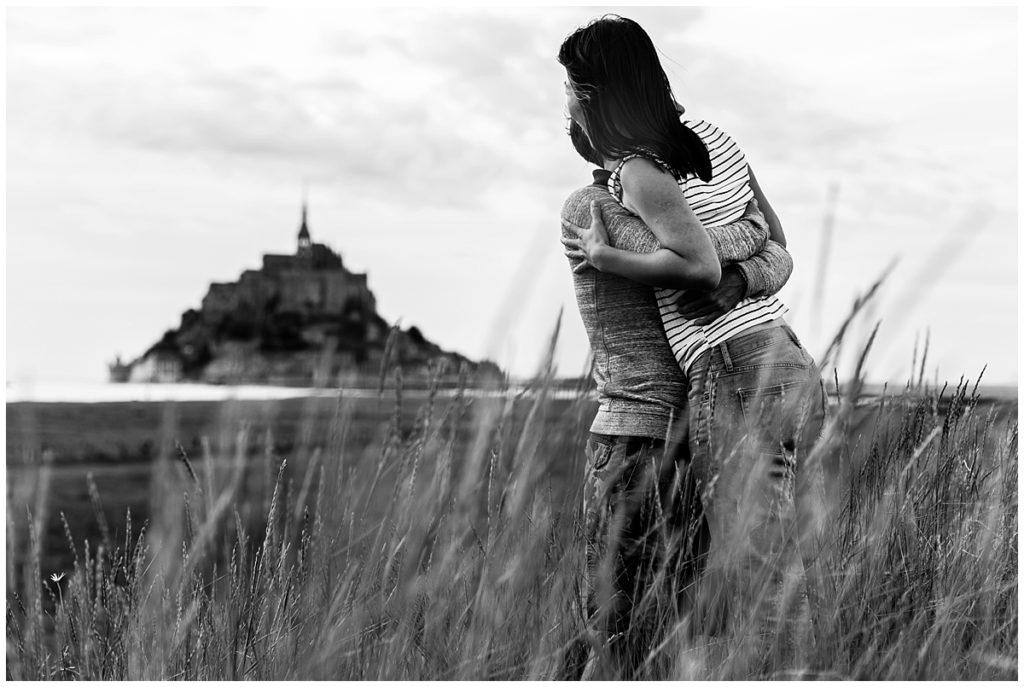 seance photo couple au mont saint michel