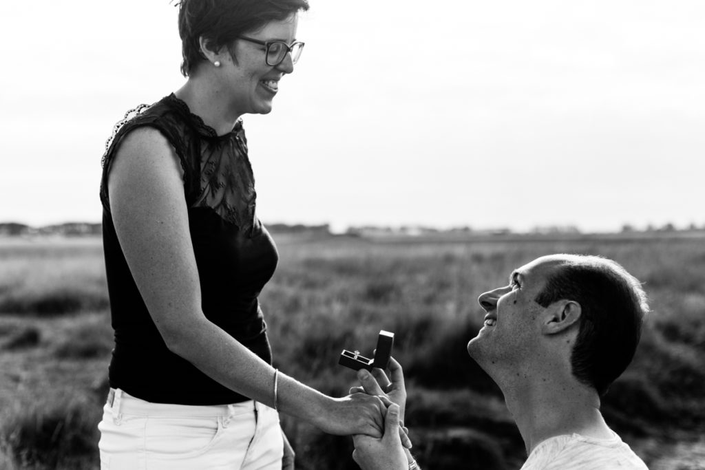 demande en mariage au Mont Saint Michel