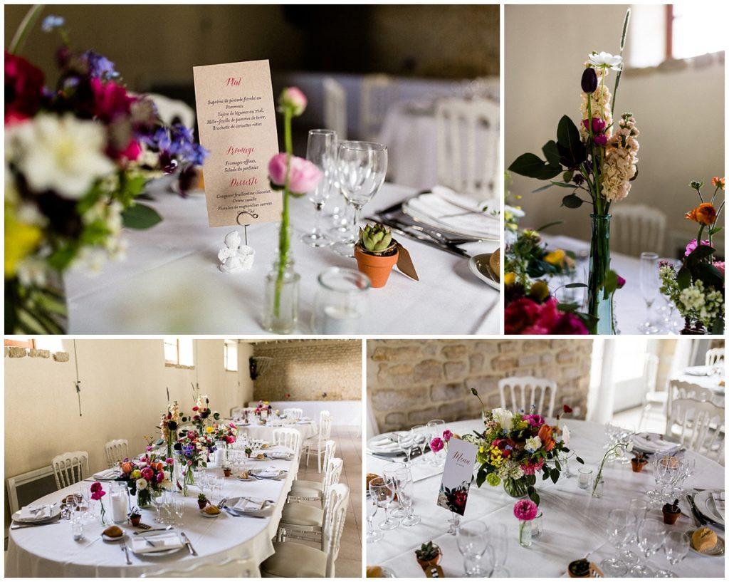 mariage champêtre au colombier du manoir, salle de réception en normandie