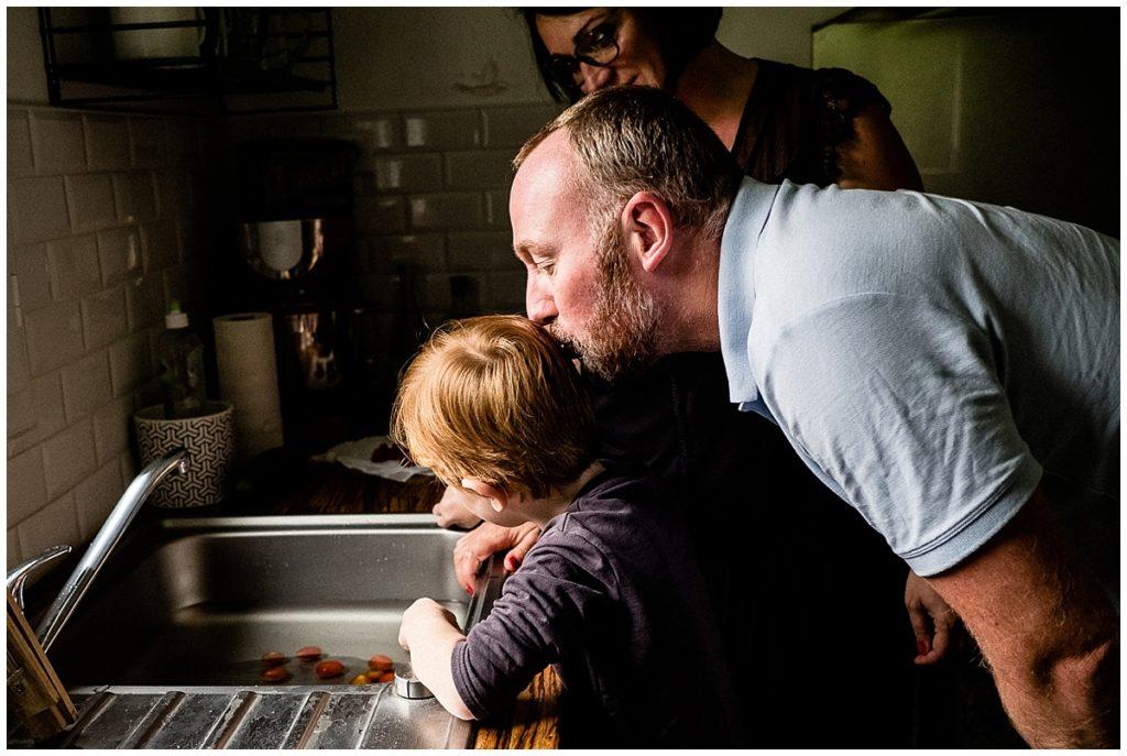 reportage photographique du quotidien d'une famille en normandie