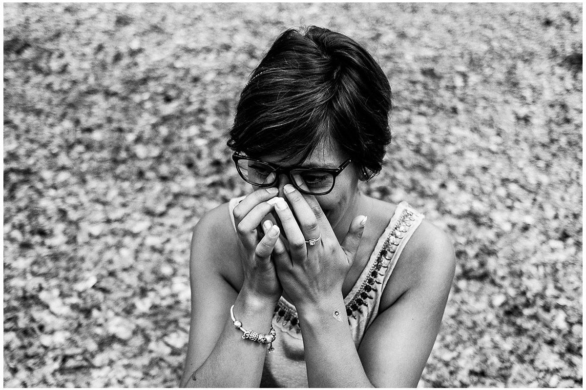 jeune femme emotions