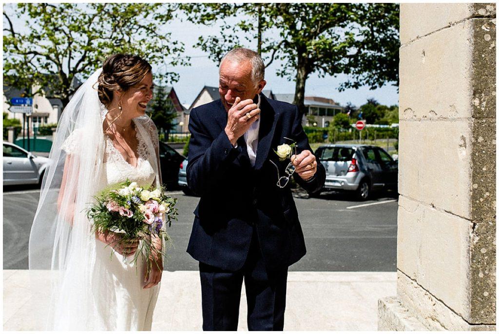 émotions papa de la mariée