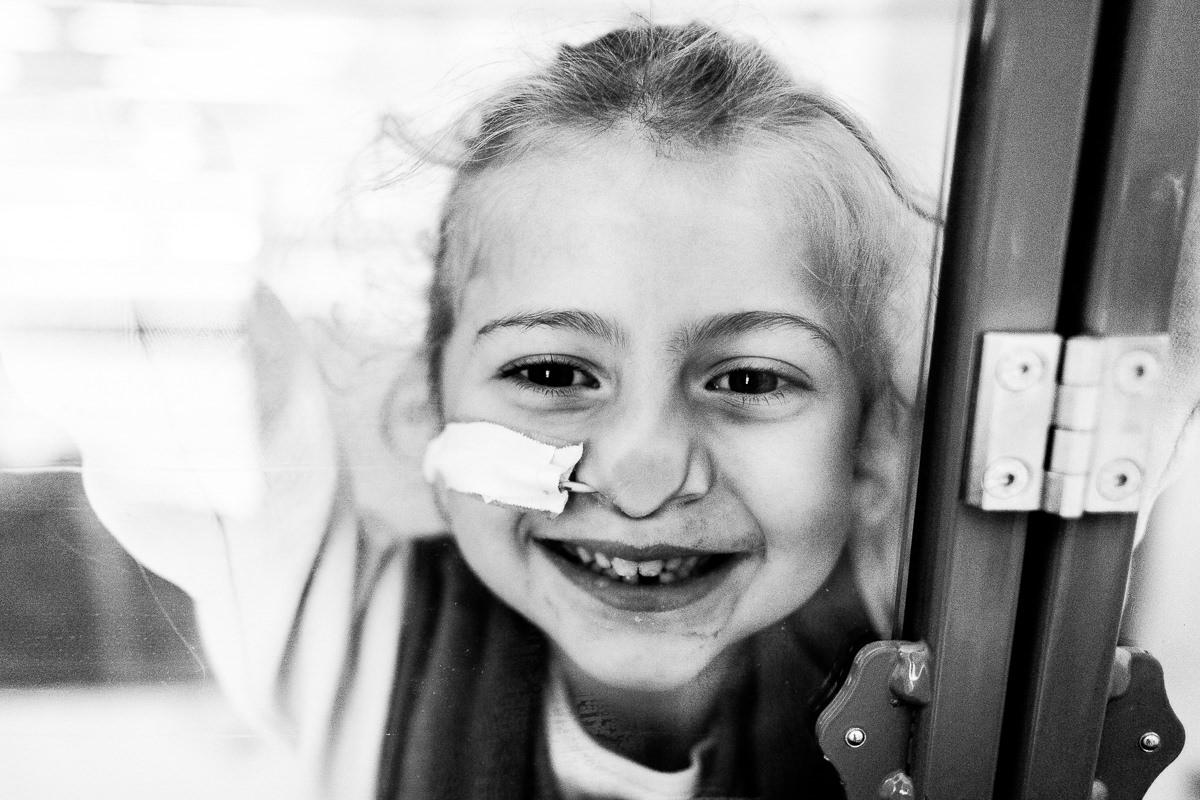 petite fille hospitalisée