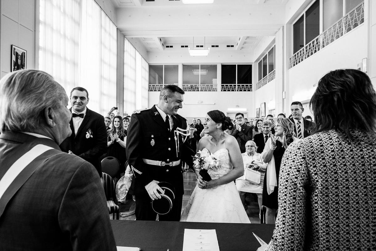 cérémonie civile mariage gendarmes