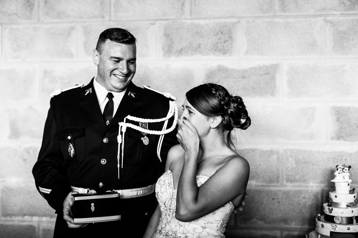 mariés émotions vin d'honneur