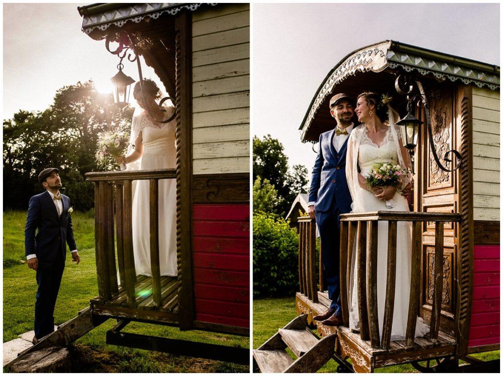 mariés sur la roulotte du champ delaunay