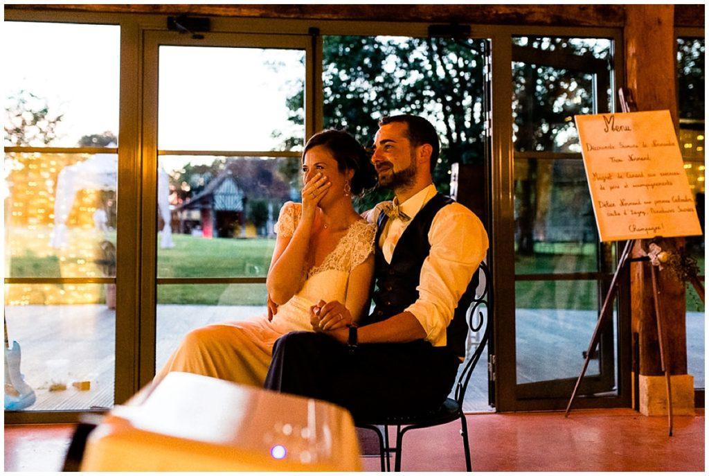 émotions soirée mariage