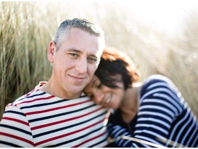 photo de couple dans la baie du mont saint michel