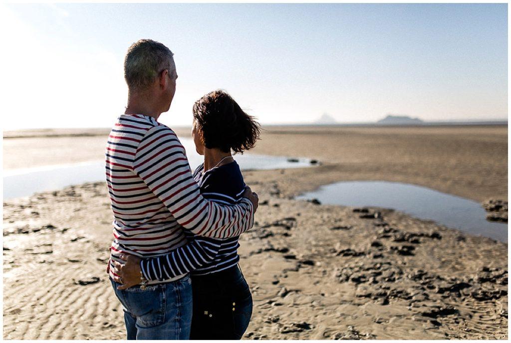 couple dans la baie du mont saint michel