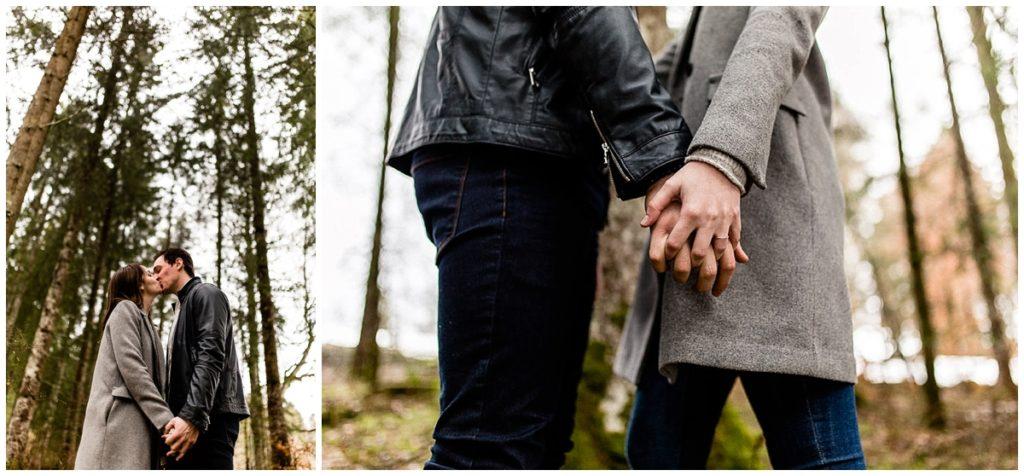 photos de couple en foret en suisse