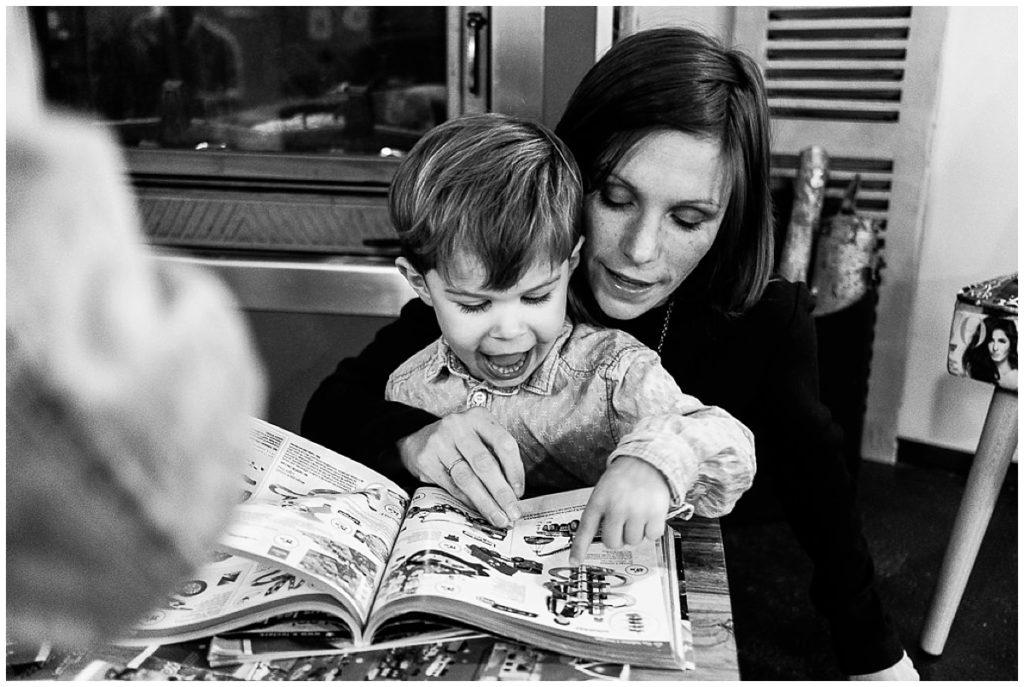 faire sa liste de Noël avec sa maman