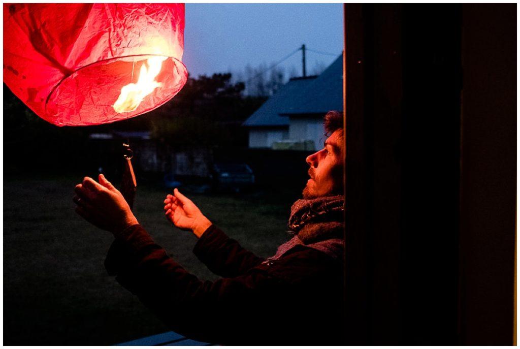 lanterne pour envoyer sa lettre au père Noël