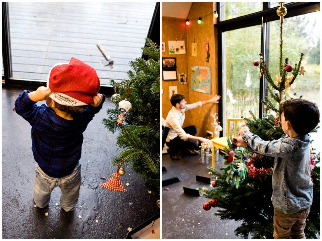 séance photos préparatifs de Noël