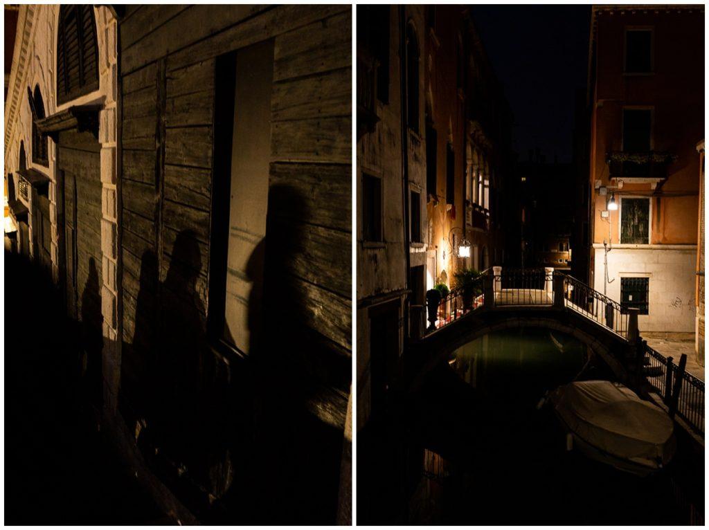 photos de rue à venise la nuit