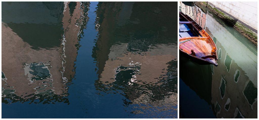 reflets à venise, photos de rue à venise