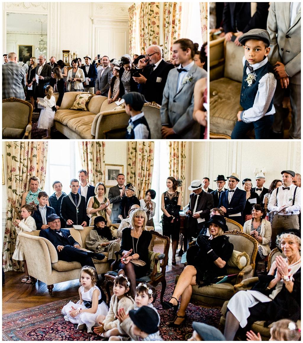 invités au mariage rétro au chateau de courtomer en normandie, audrey guyon photographe mariage normandie