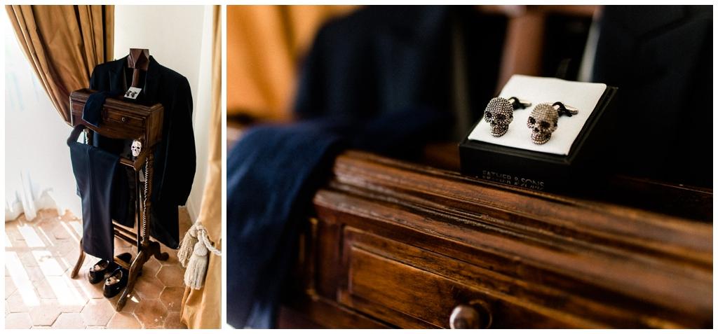 préparatifs mariage du marié au chateau de courtomer