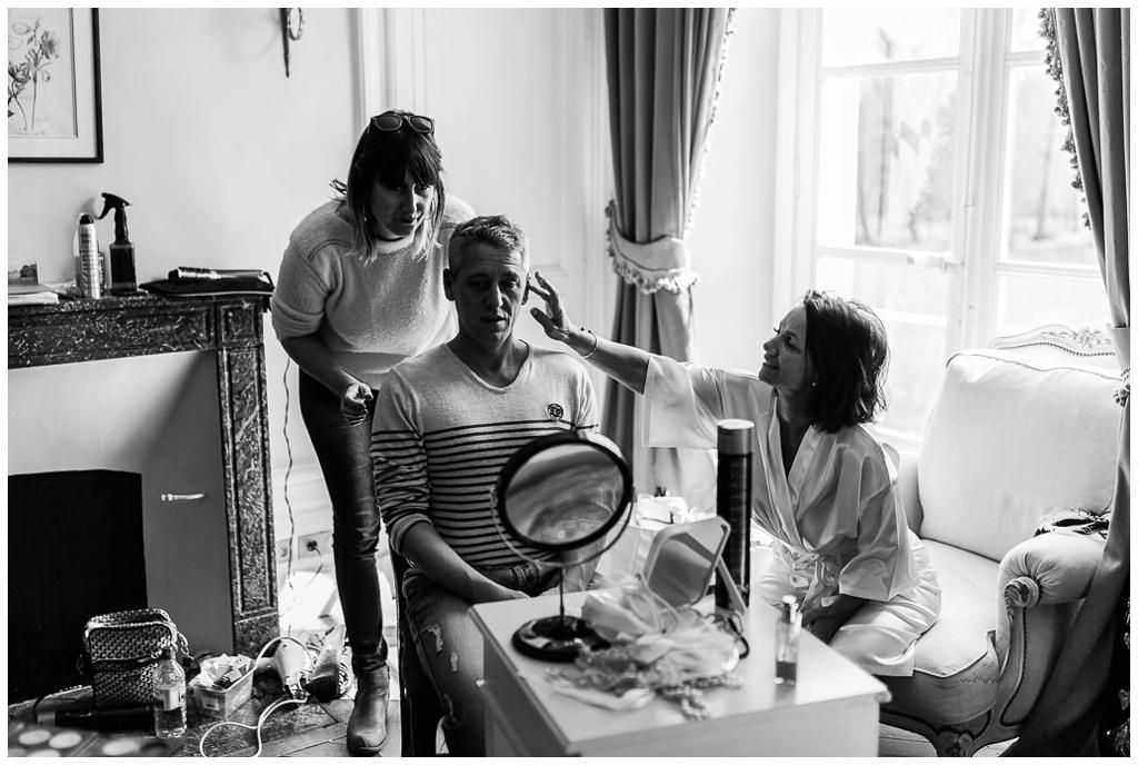 preparatifs mariage mariés chateau de courtomer, audrey guyon photographe mariage normandie