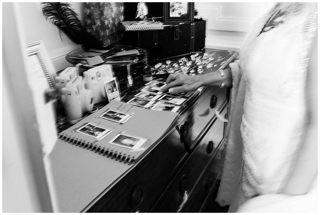 livre d'or mariage rétro en normandie, audrey guyon photographe mariage