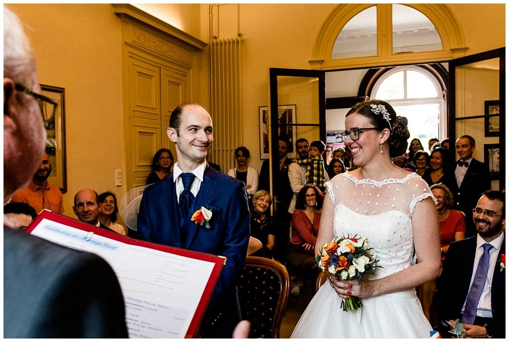 cérémonie civile d'un mariage d'automne en normandie, audrey guyon photographe mariage manche