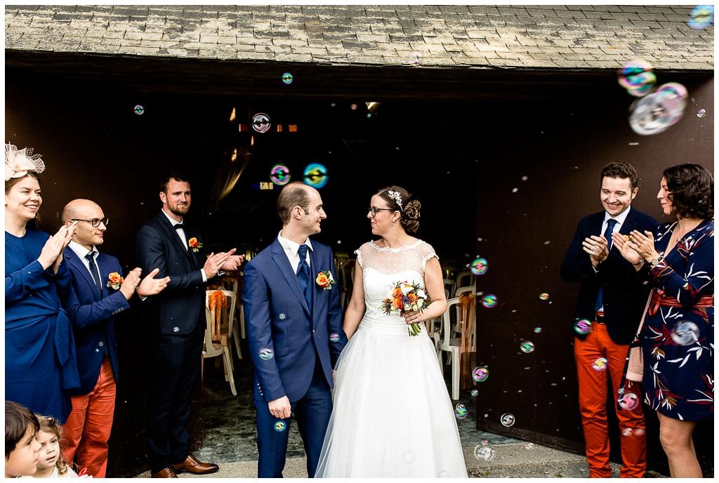 sortie cérémonie laique au domaine de la guérie, audrey guyon photographe mariage normandie
