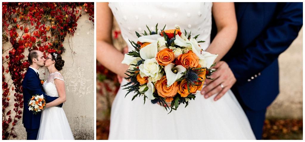 photos de couple d'un mariage d'automne en normandie, audrey guyon photographe mariage normandie