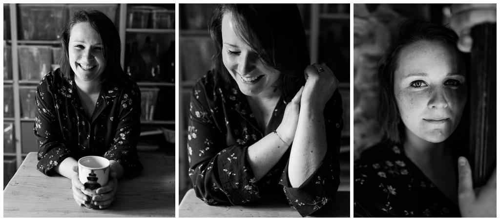 portraits en noir et blanc de homemade for love, wedding planner en normandie. Audrey GUYON, photographe corporate en normandie.