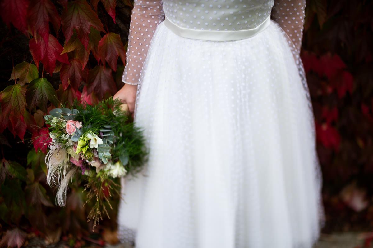 bouquet de mariée d'un mariage écossais en normandie, photographe mariage normandie