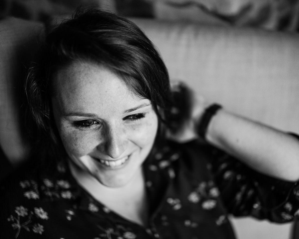 portrait de femme en noir et blanc, photographe portrait normandie
