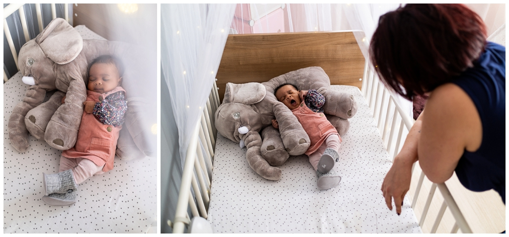 nouveau né dans son lit. Photographe nouveau né à domicile dans le calvados, audrey guyon