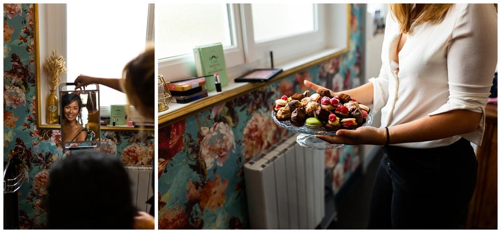 préparatifs mariage près de caen au salon joakim coiffeur barbier, audrey guyon photographe mariage normandie