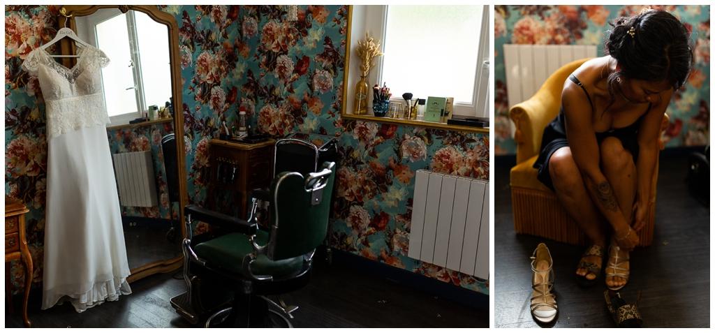 Préparatifs mariage au salon joakim coiffeur barbier près de caen, audrey guyon photographe mariage normandie